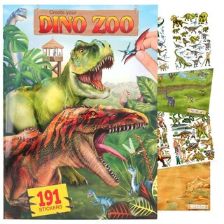 Create your DINO ZOO - Malbuch mit 191 Stickers - NEU